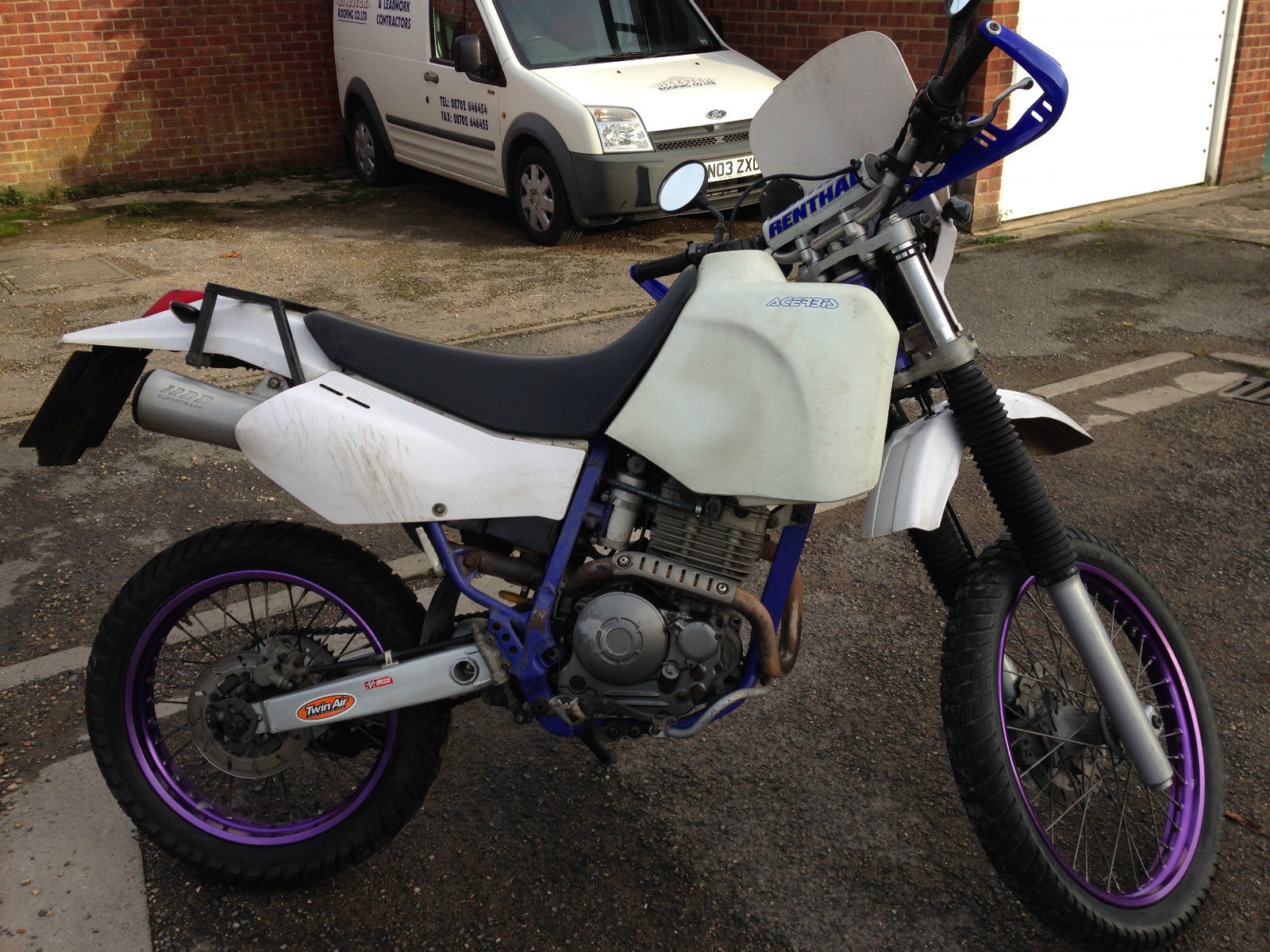 1993 yamaha ttr 250 white open enduro tt250r acerbis long range tank. Black Bedroom Furniture Sets. Home Design Ideas