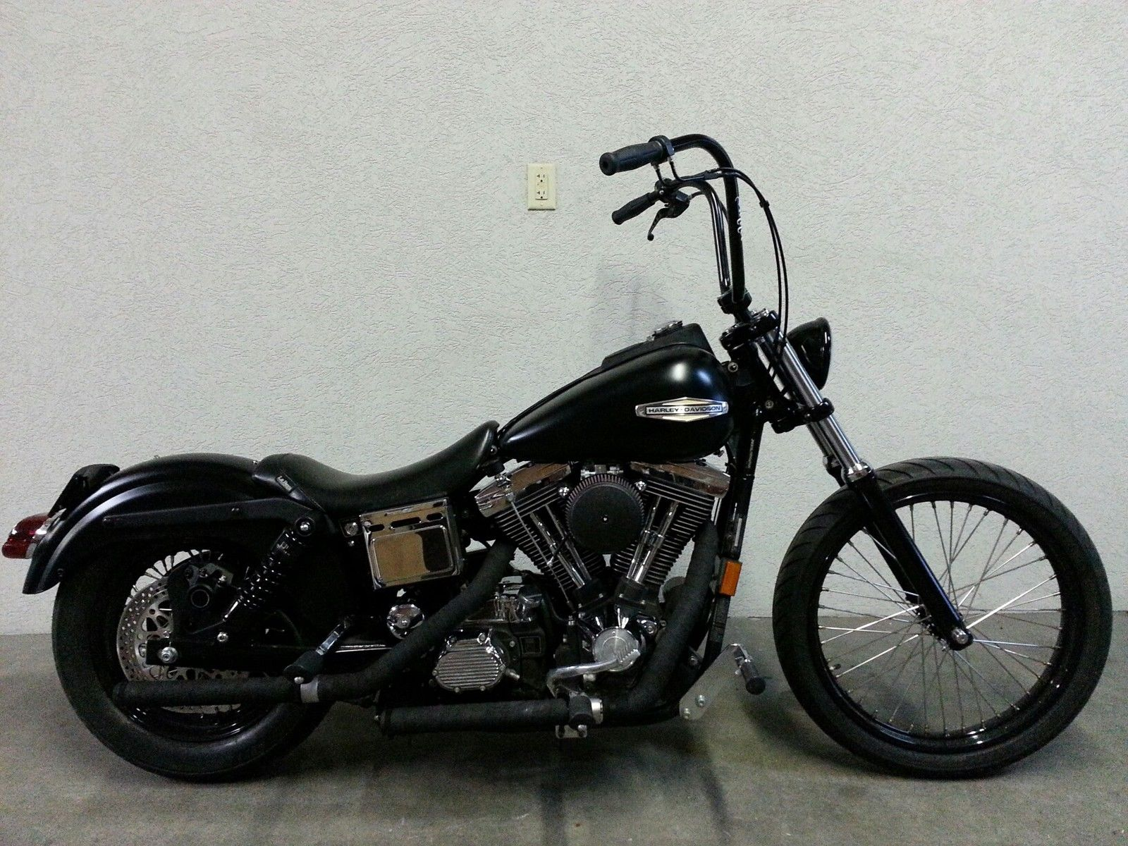 1996 harley dyna fxds lowrider hardcore street bob bobber chopper. Black Bedroom Furniture Sets. Home Design Ideas
