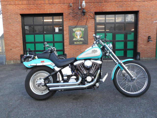 1997 HARLEY DAVIDSON FXSTC SOFTAIL EVOLUTION RARE FACTORY TEAL AND