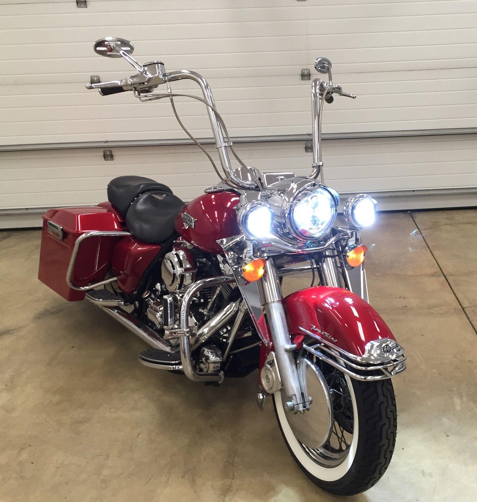 2000 Harley Davidson Flhr Road King  Leds Lights  Stretched Bags  Air Ride  Etc