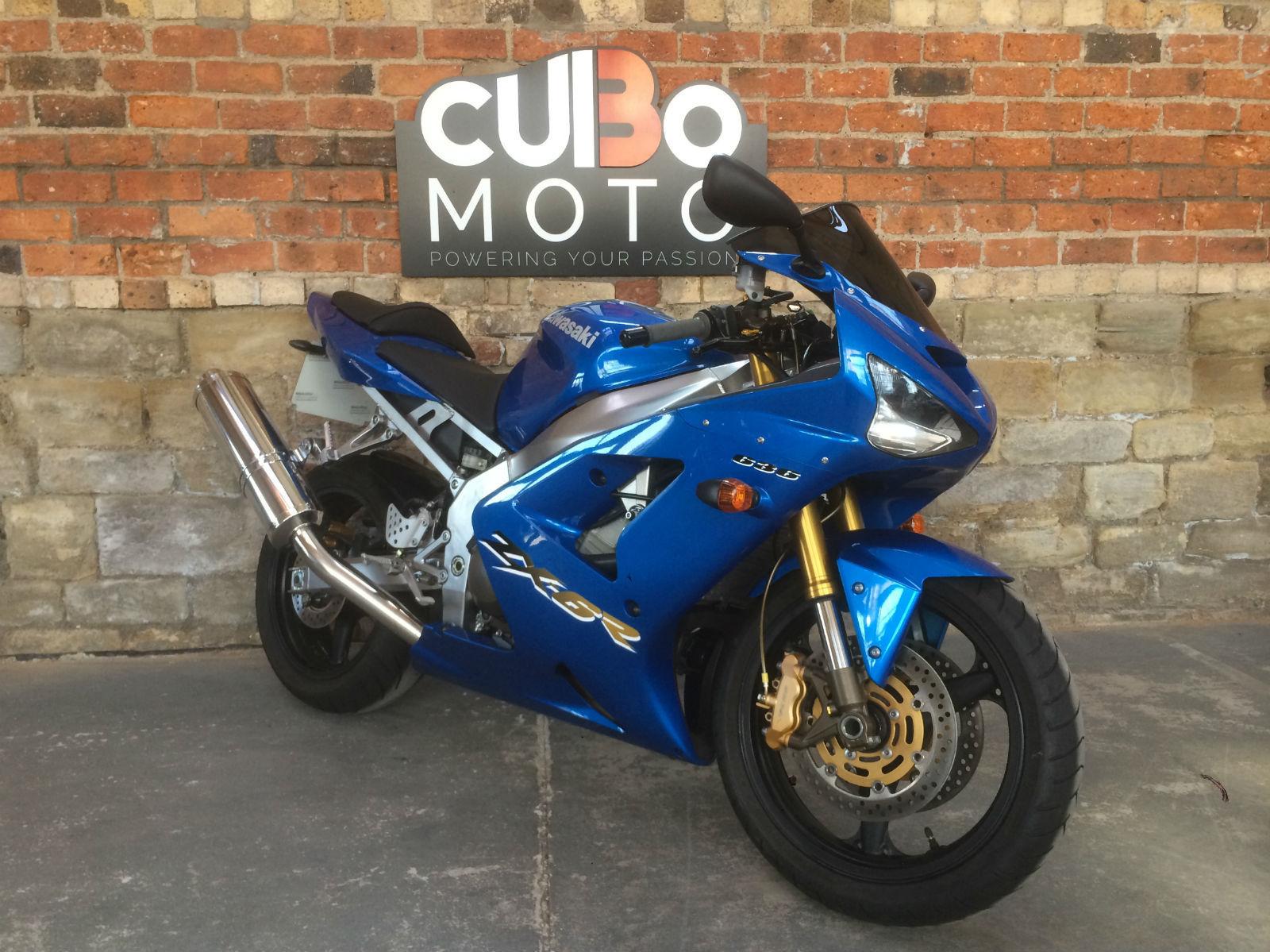 2003 03 Reg Kawasaki Ninja 636 Cc Zx636 B1h Zx 6r Metallic Blue