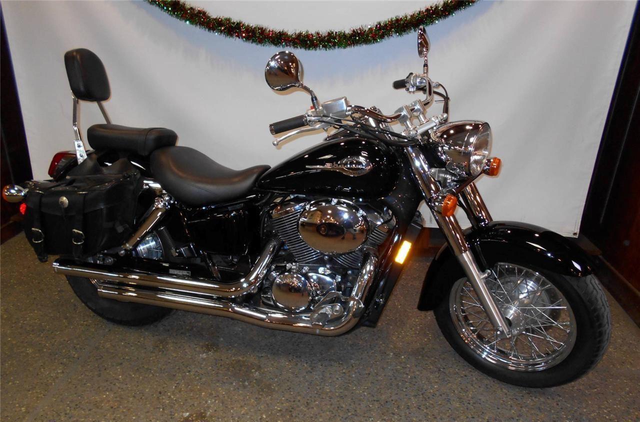 2003 Honda Shadow Motorcycle Black Vt 750 American Classic Edition