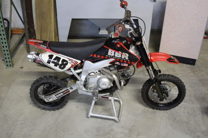 2004 honda crf50 88cc custom pit bike built by bbr  7500