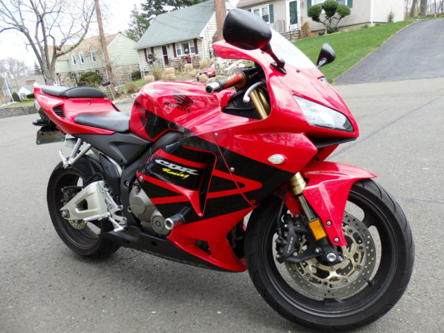2005 Honda Cbr600rr Red Black Two Brothers Exhaust