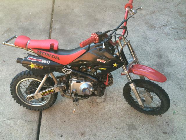 2006 Honda Dirtbike   China Motor   110cc   Big Forks   Wheelie Bar   Runs!