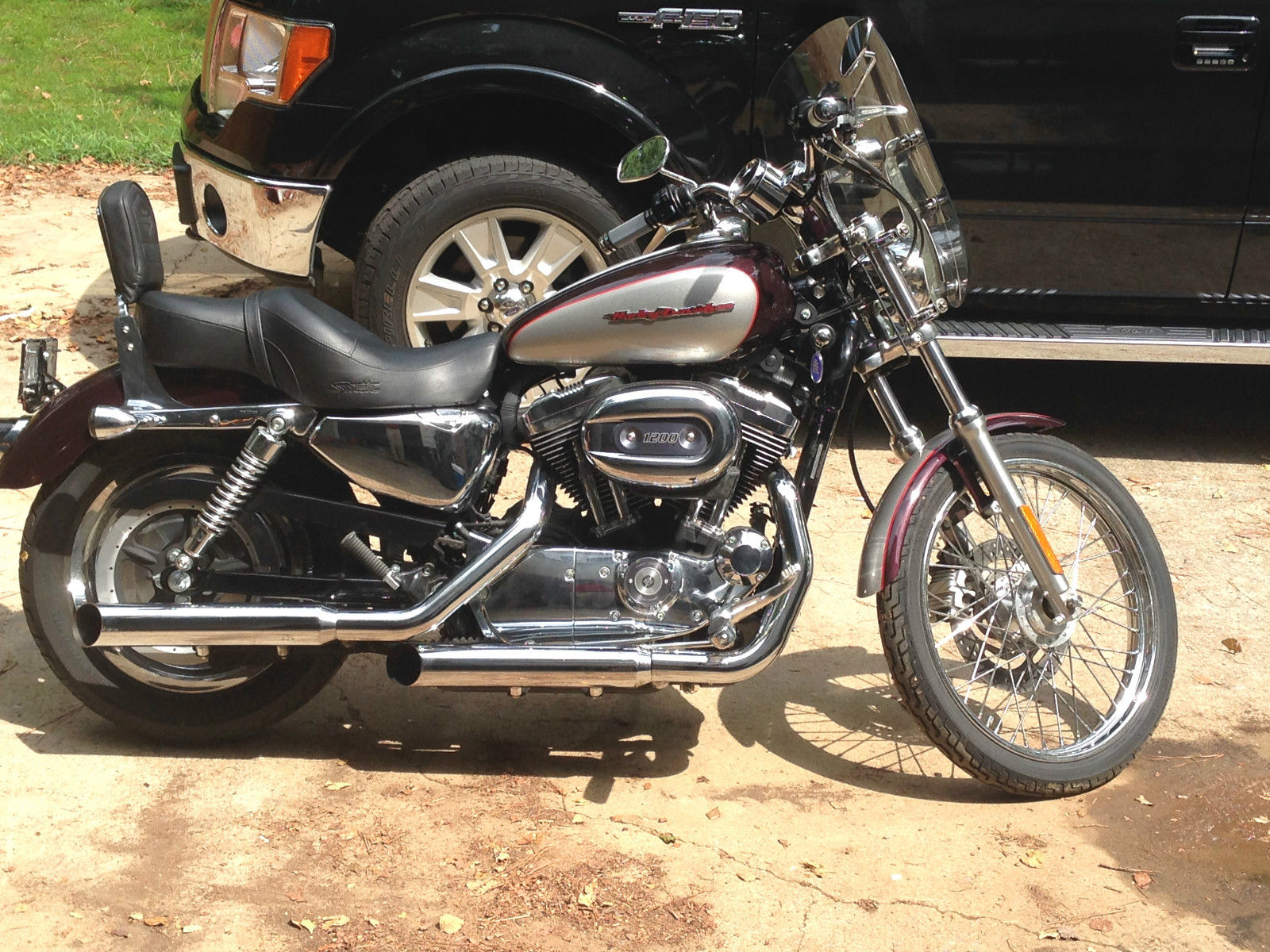 2007 Harley Davidson Sportster 1200 Custom Black Cherry Silver