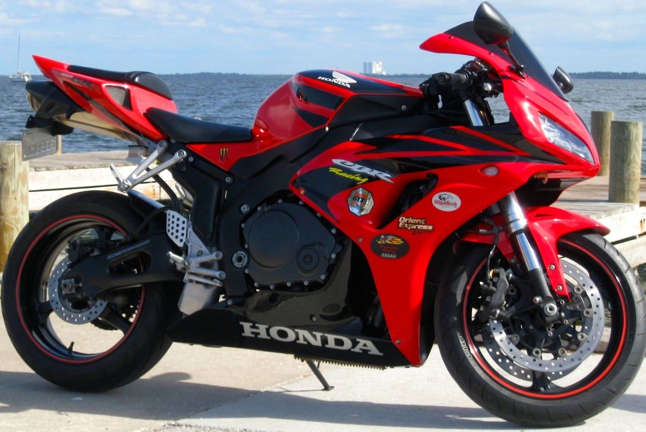2007 HONDA CBR 1000 RR RED BLACK MOTORCYCLE CLEAN FAST FUN