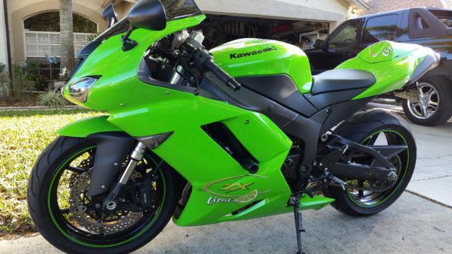 2007 Kawasaki Ninja Zx6r Green, Excellent condition, many extras
