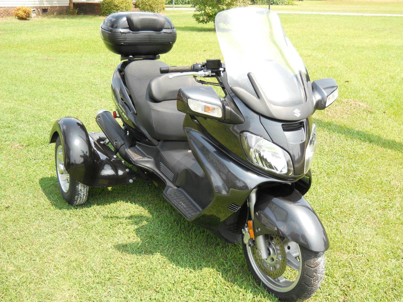 2007 suzuki burgman 650 scooter with tow pac trike kit. Black Bedroom Furniture Sets. Home Design Ideas