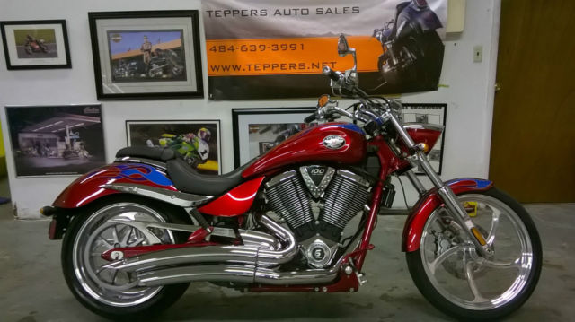 2007 VICTORY JACKPOT Arlen Ness Exhaust Bank Repo Clean Title Chopper Custom