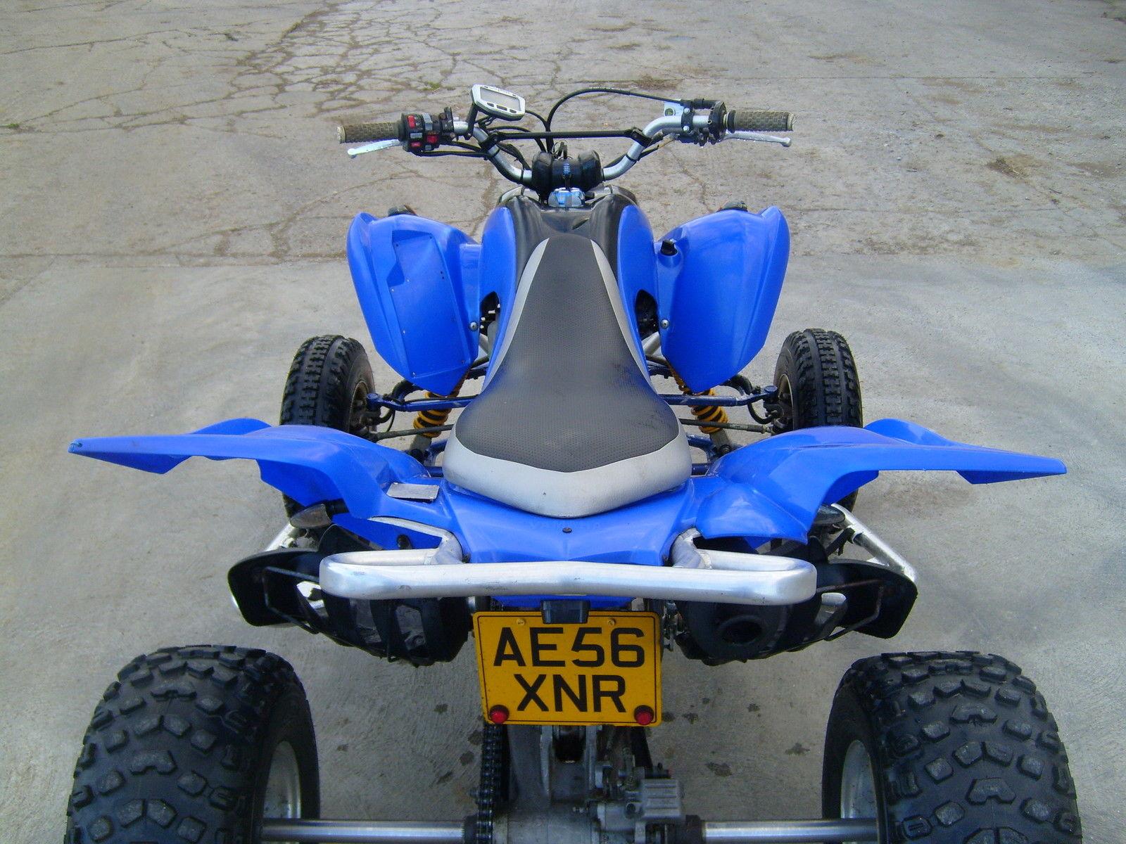 2007 yamaha raptor 700r road legal racing quad bike blue for 2007 yamaha raptor 350 top speed