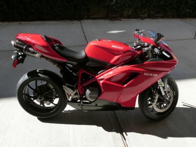 2008 ducati 848 red superbike for sale. Black Bedroom Furniture Sets. Home Design Ideas