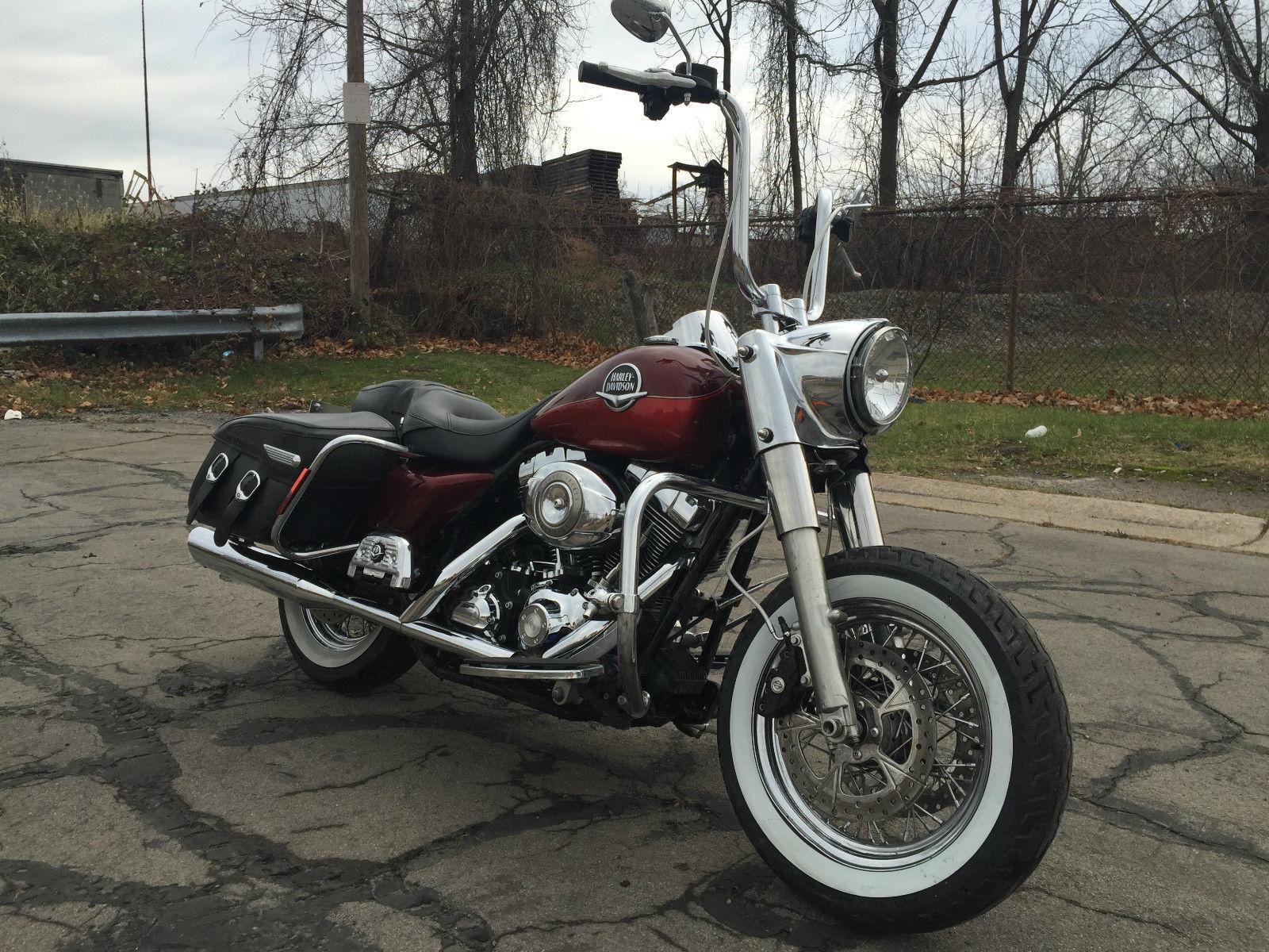 2008 Harley Davidson Road King Classic Runs Rides 14 Apes Minor Damage Salvage