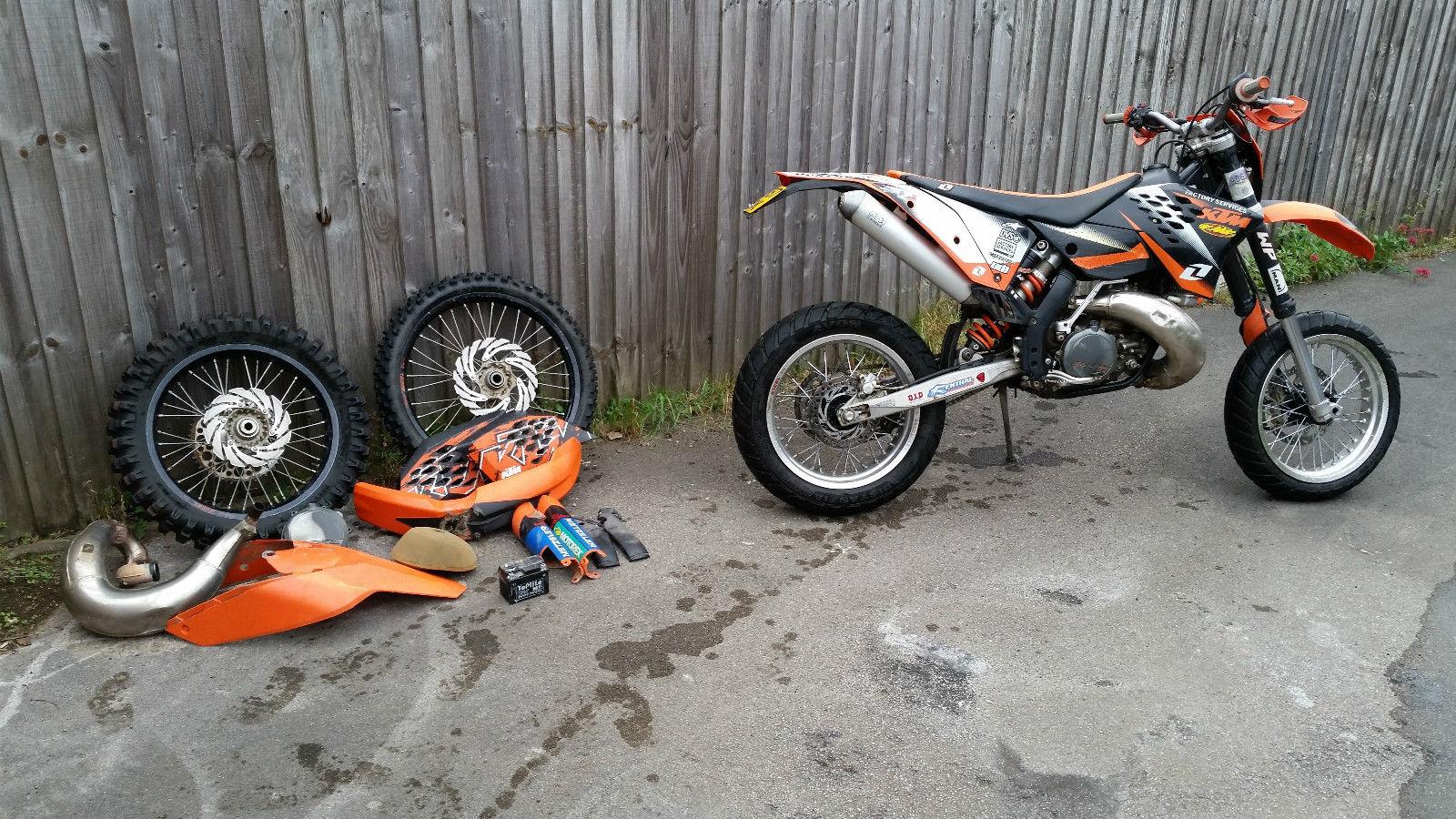 2008 ktm 300 exc orange supermoto motocross. Black Bedroom Furniture Sets. Home Design Ideas