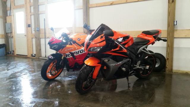 2008 Orange Honda Cbr600rr Motorcycle Sport Bike 600 Rr 1000 Rocket