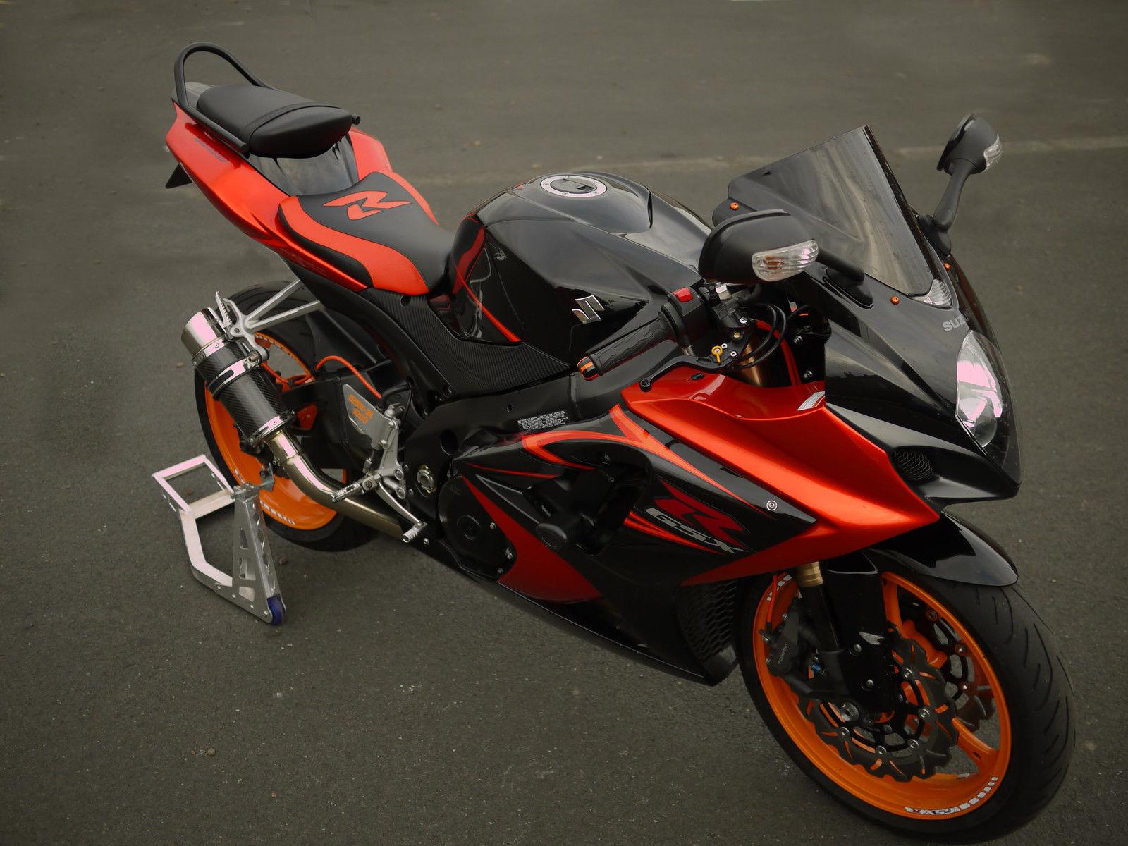 2008 suzuki gsxr 1000 black orange. Black Bedroom Furniture Sets. Home Design Ideas