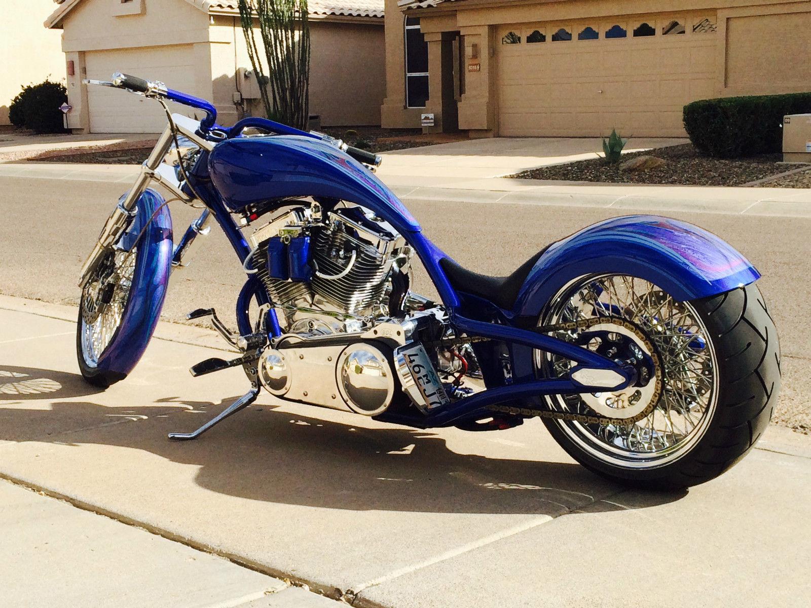chopper custom motorcycle redneck chrome engineering lowlife motorcycles built 2009 arizona