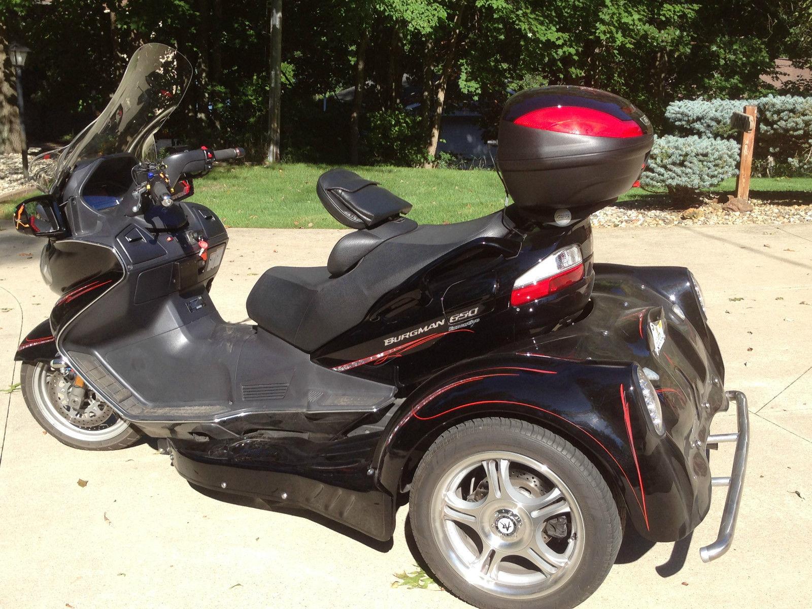 2009 suzuki burgman 650 exec scooter w falcon trike conversion. Black Bedroom Furniture Sets. Home Design Ideas