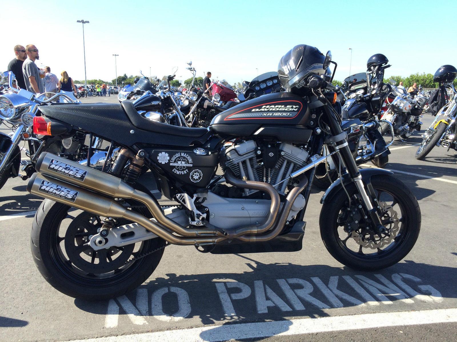 2010 Harley Davidson XR 1200 Vance Hines Race Exhaust Progressive Carbon  Fiber