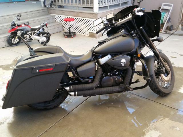 2010 Honda Shadow Phantom Custom Blacked Out With Rhino Lining