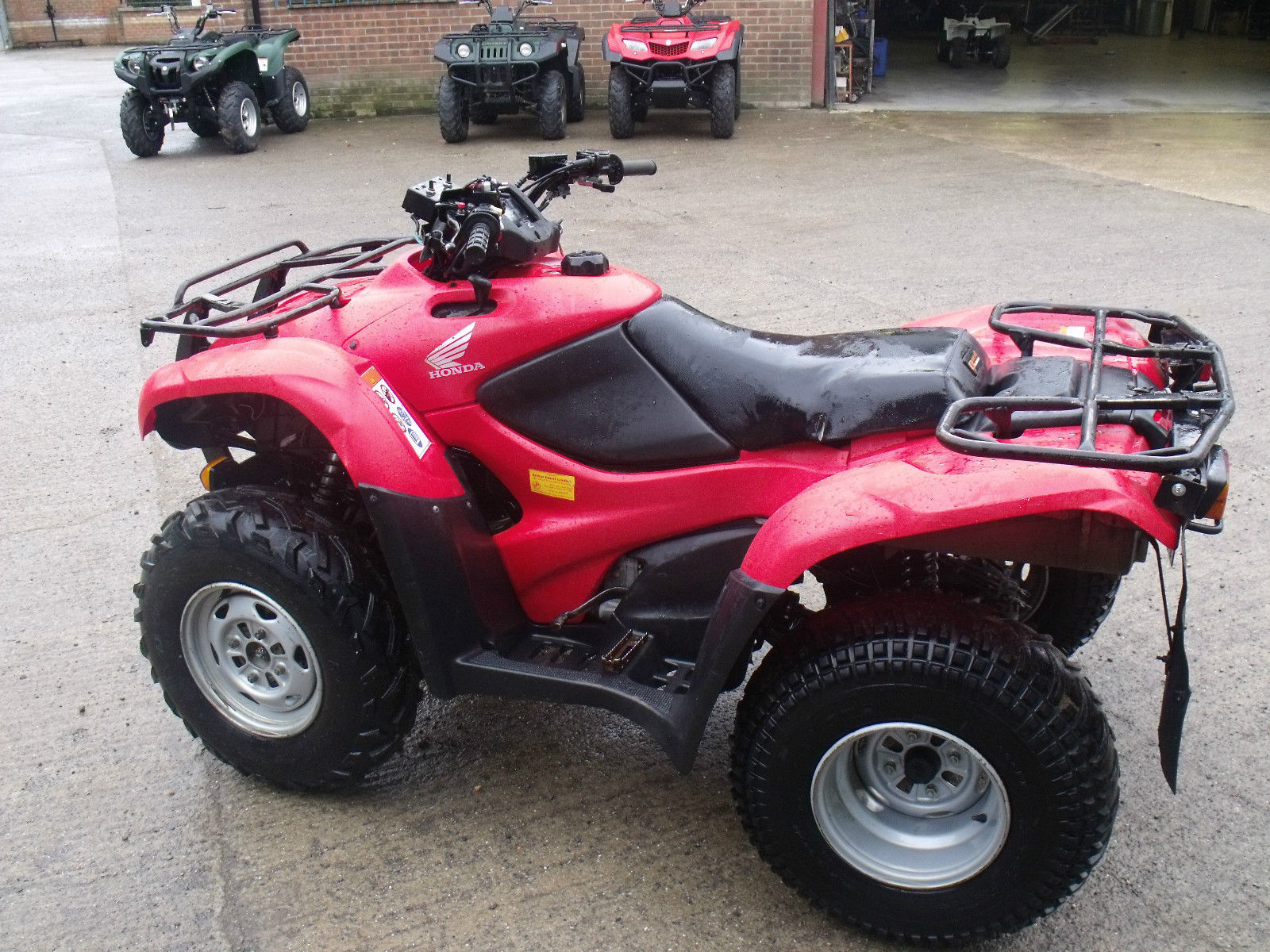 2010 honda trx420 fourtrax atv quad bike 4x4 trx 420 utility tractor. Black Bedroom Furniture Sets. Home Design Ideas