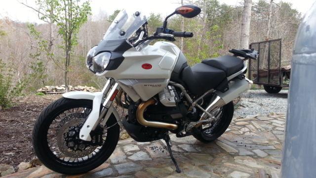 2011 moto guzzi stelvio 1200 abs white low miles garage. Black Bedroom Furniture Sets. Home Design Ideas