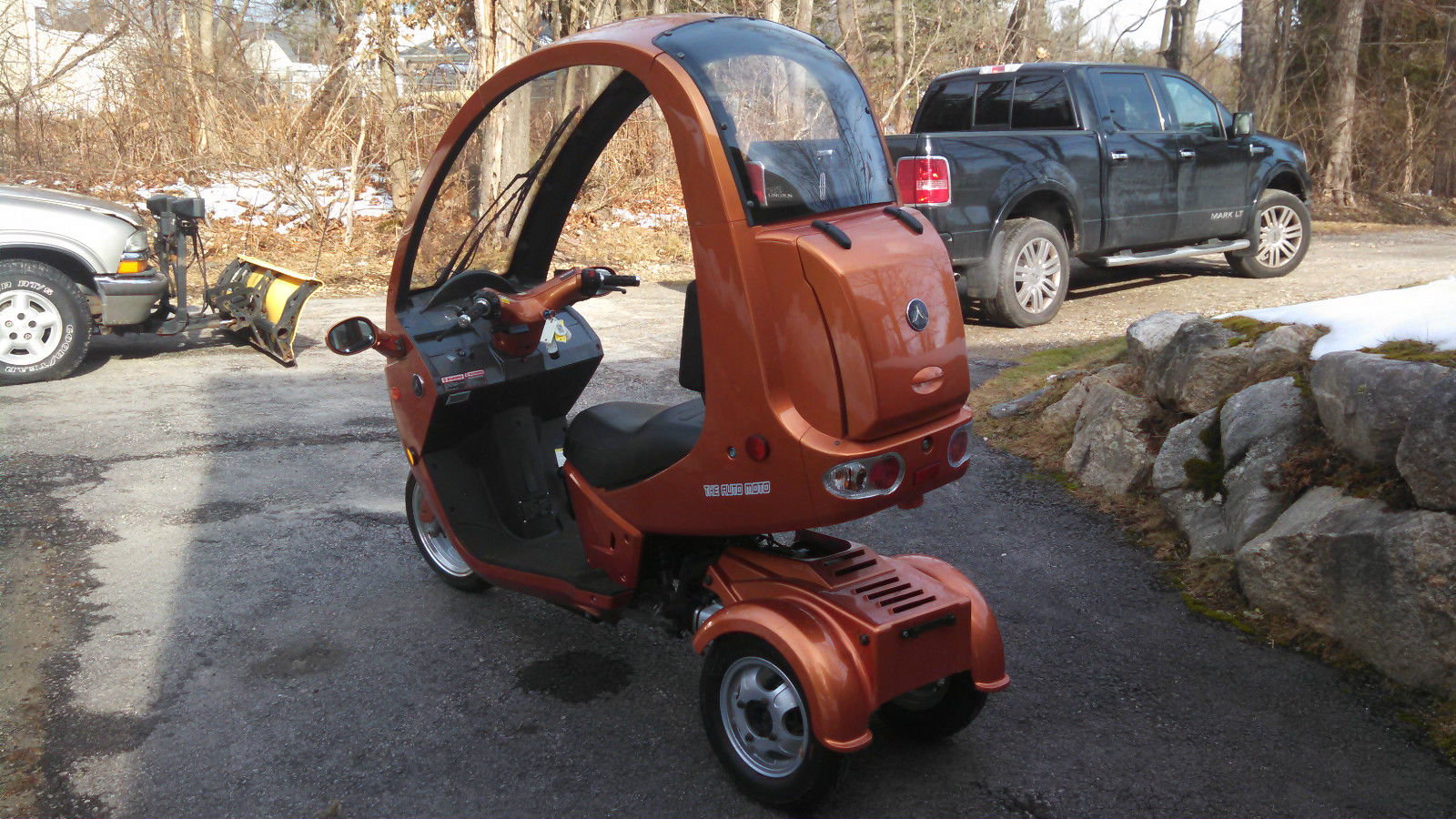 2012 automoto 3 wheel enclosed gass 150cc scooter trike. Black Bedroom Furniture Sets. Home Design Ideas