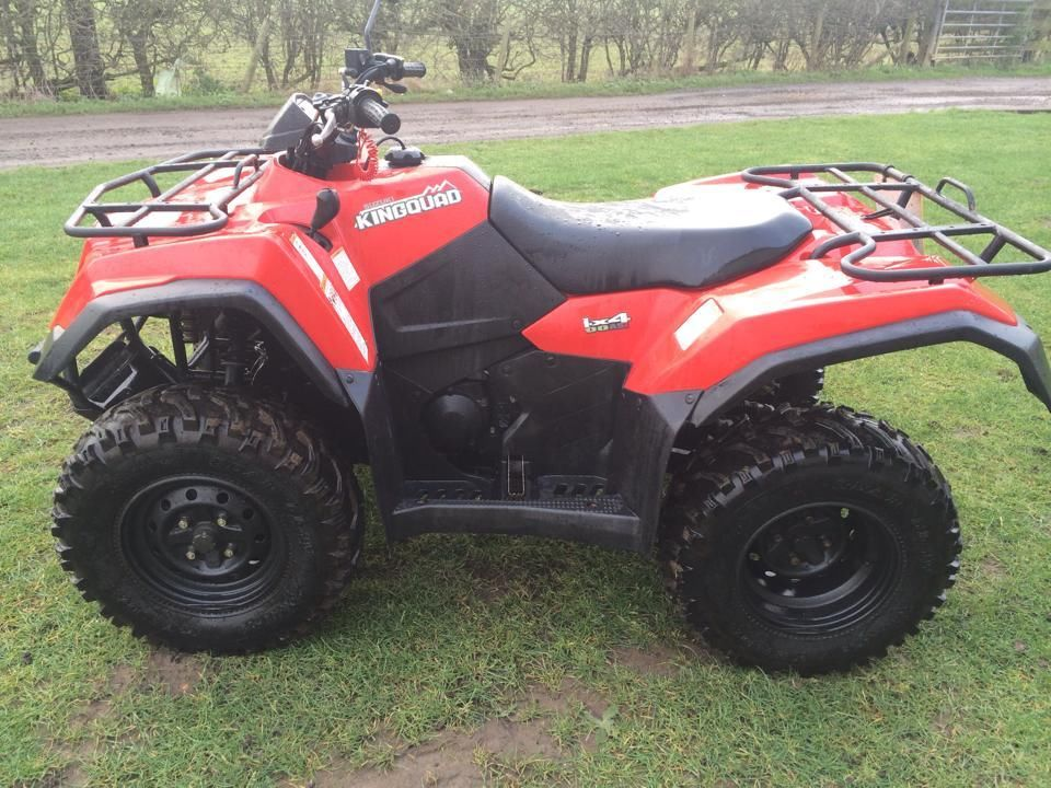 2012 suzuki 400 king quad automatic road registered atv farm quad. Black Bedroom Furniture Sets. Home Design Ideas