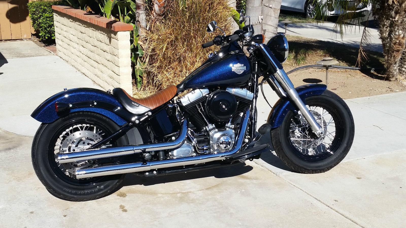 Harley Softail For Sale San Diego >> 2013 Harley Softail Slim FLS Big Blue Pearl