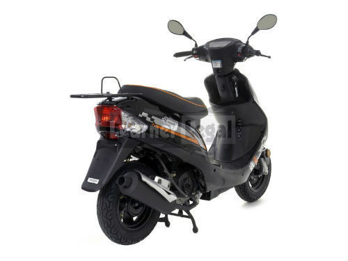 2014 longjia lj50qt 3l black 50cc scooter moped ped. Black Bedroom Furniture Sets. Home Design Ideas