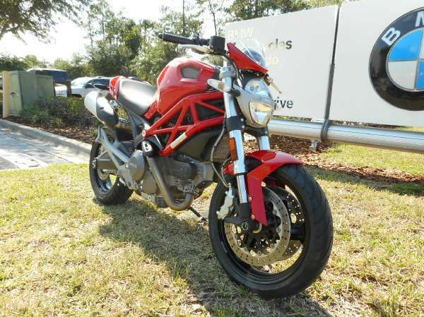 2014 red ducati monster 696 naked sport bike