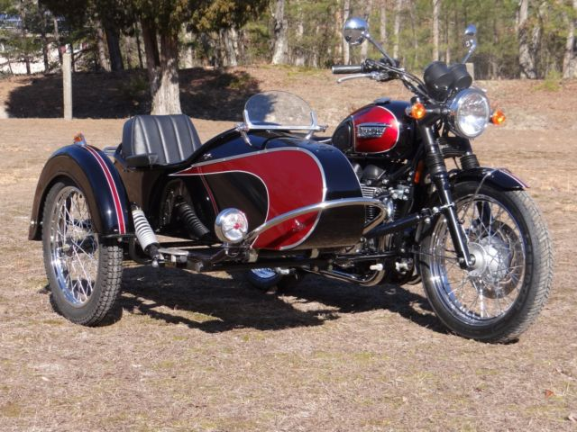 2014 triumph t100 with custom sidecar
