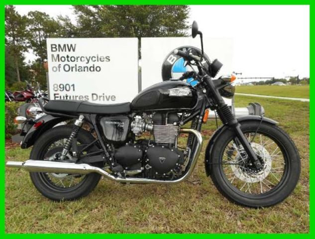 2015 Triumph Bonneville T100 Black New