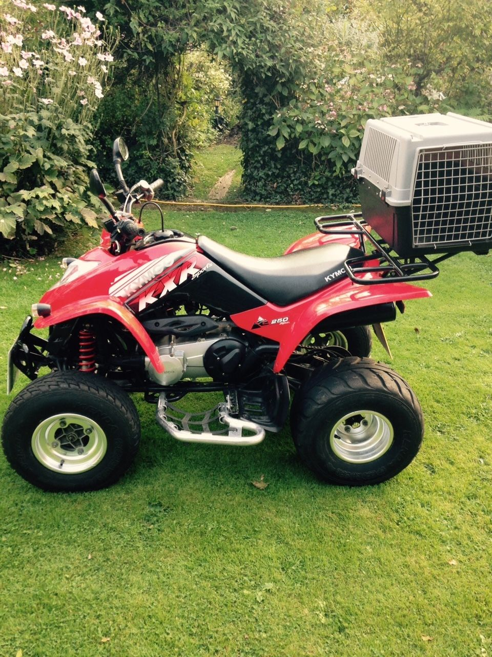 250cc quad bike 2004 kymco kxr 250 rl quad bike red. Black Bedroom Furniture Sets. Home Design Ideas