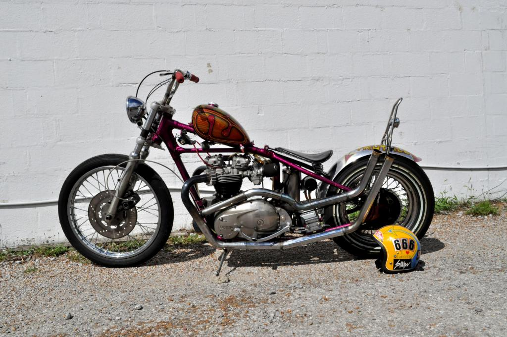 "chopper bobber triumph bsa 4 1//2/"" Bates style Mini headlight custom"