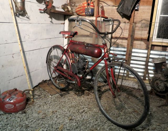 Board Track Racer Motorized Bicycle Indian Custom Pre War Replica Barn Find