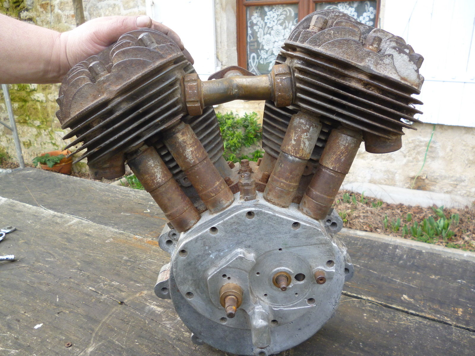 BSA G14 Engine, 1000cc V-twin, 1930s, J12, Y13. Vintage.