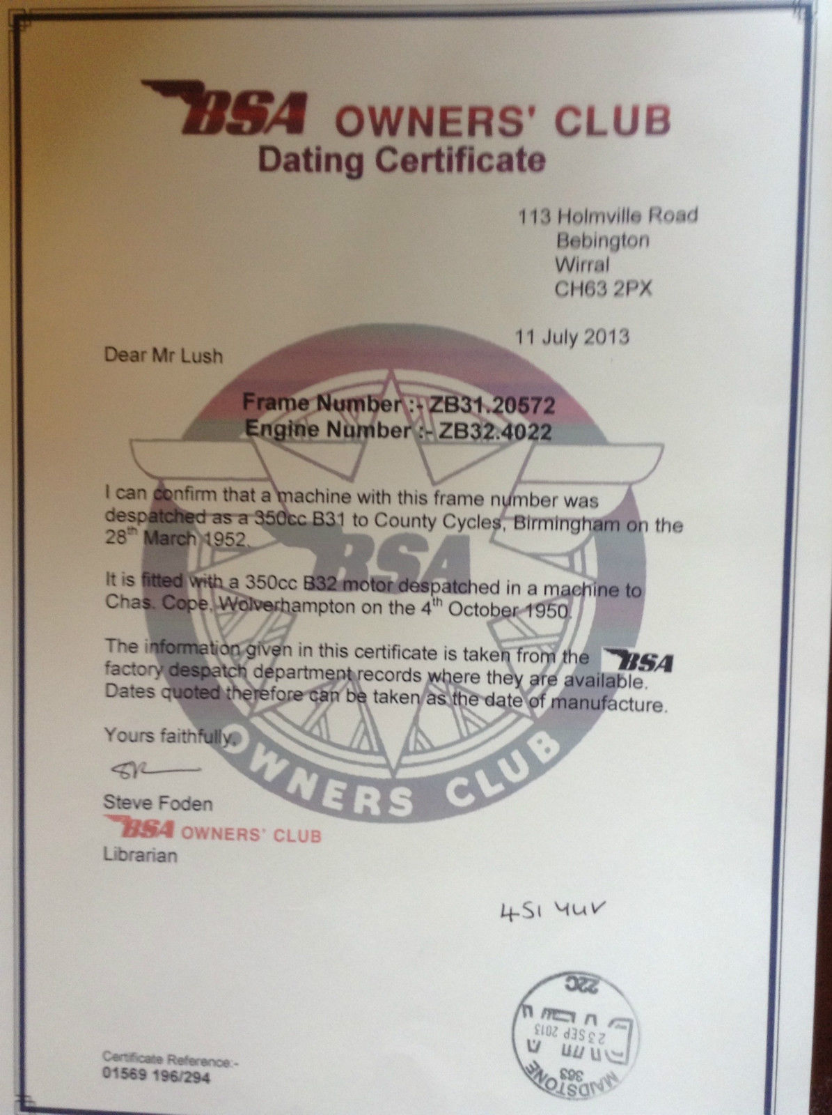 Bsa owners club dating service