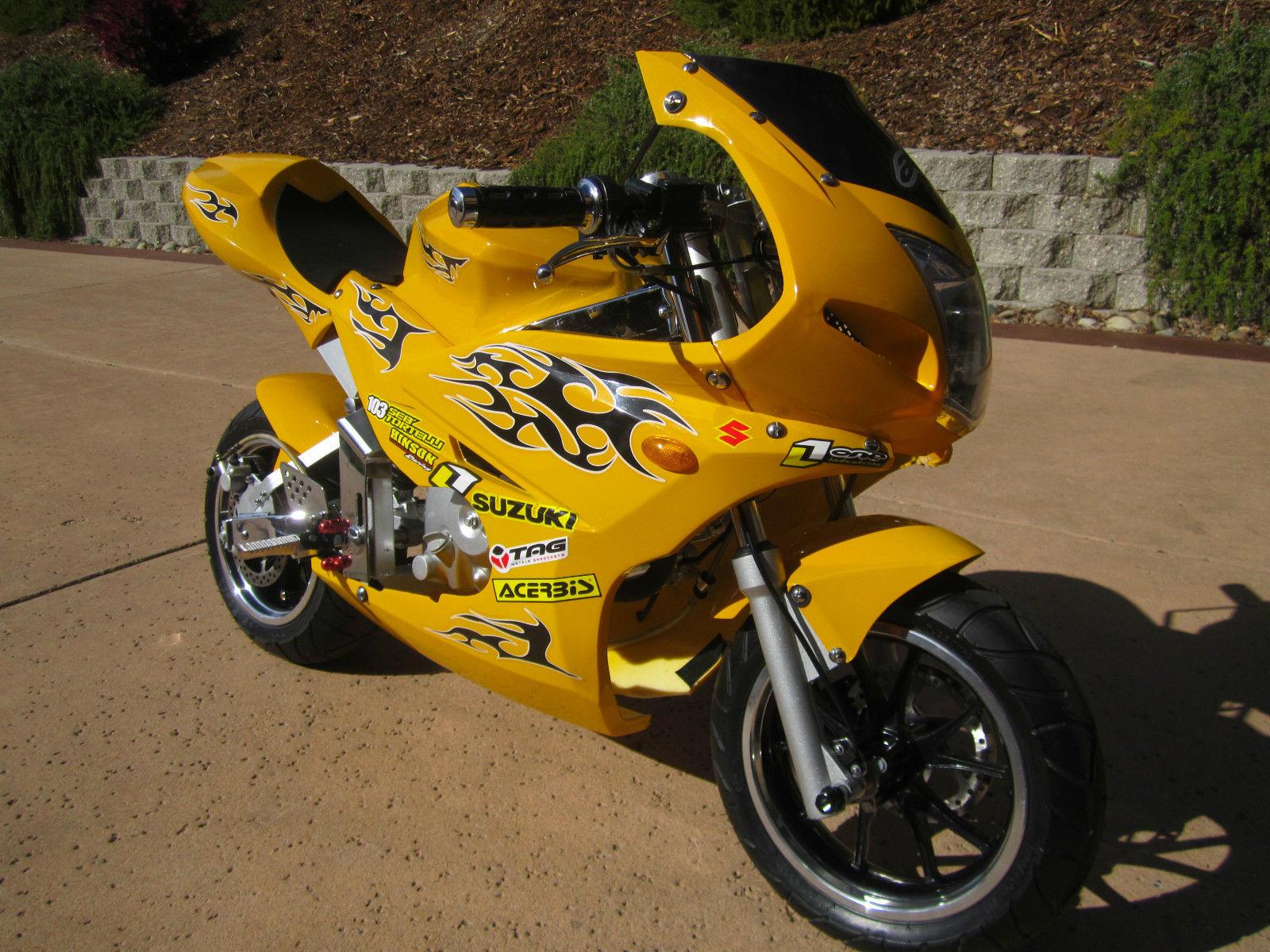 cafe racer custom super pocket bike 125cc race wide tires. Black Bedroom Furniture Sets. Home Design Ideas