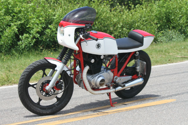 Cafe Racer Suzuki GS450 Custom Built Vintage Road Race Style Just Completed