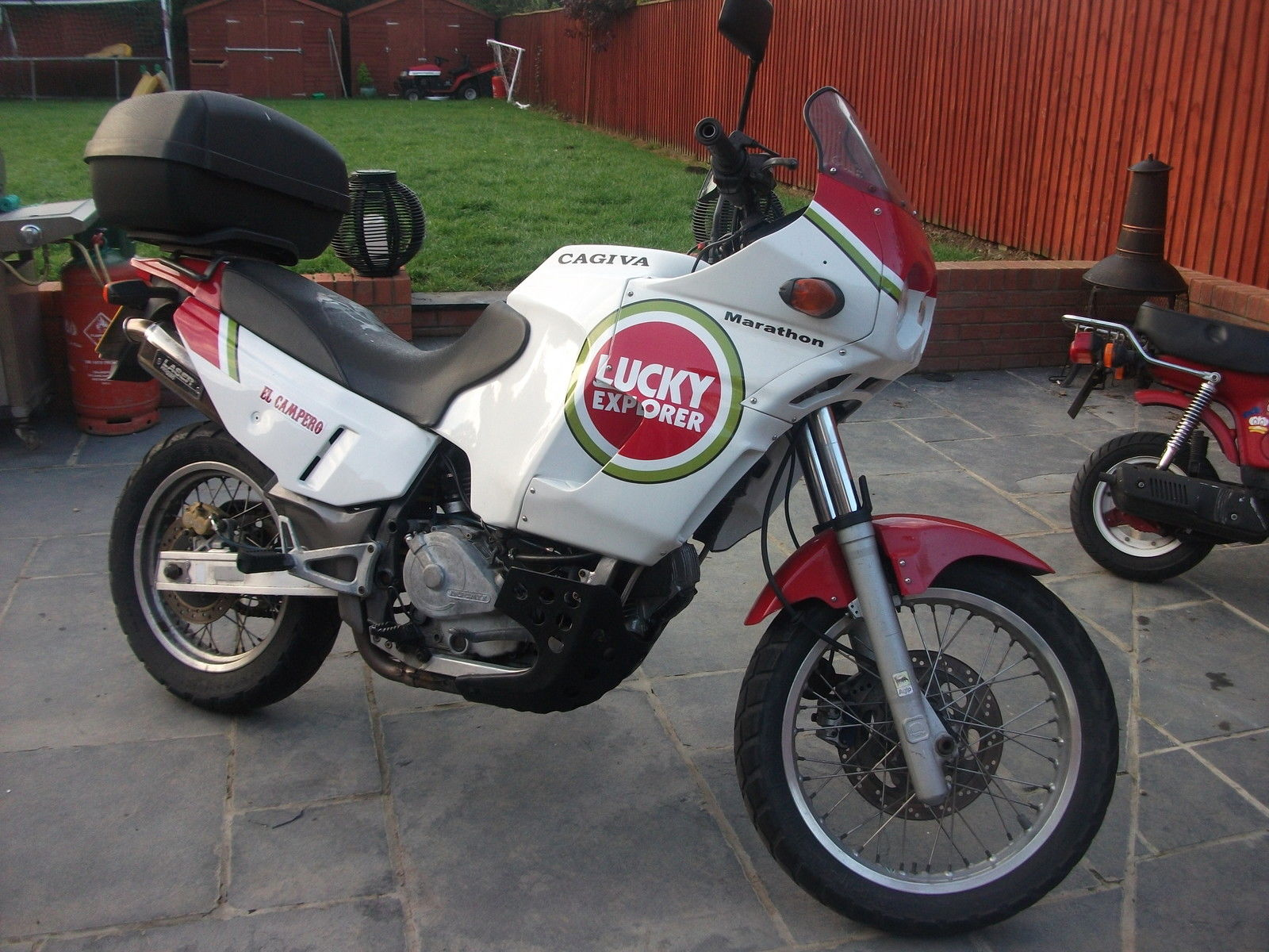 Cagiva Elefant Lucky Strike Africa Twin Beater May Swap Px