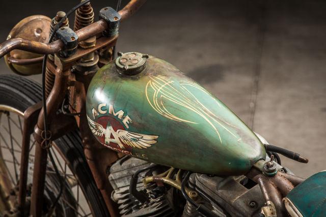 Complete Custom Harley Davidson Rat Rod Vintage Patina Bobber on Harley Ignition Wiring