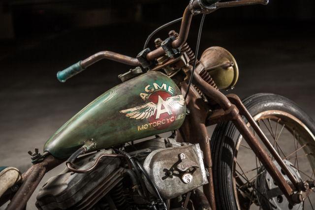 Complete Custom Harley Davidson Rat Rod Vintage Patina Bobber
