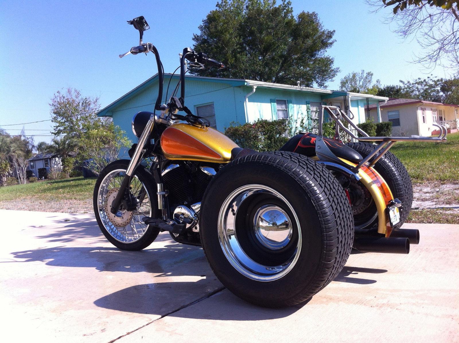 Custom 2003 Honda Shadow Trike Bobber