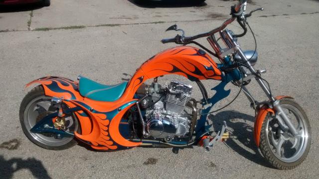 custom mini chopper custom paint great looking