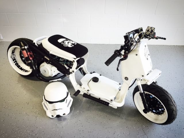 Custom Star Wars Stormtrooper Honda Ruckus on Gy6 Head