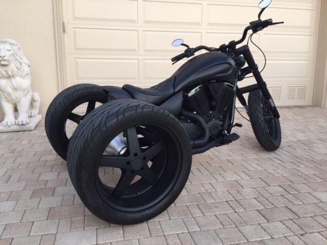 Custom Trike Frankenstein One Of A Kind Flat Black No Harley Victory on Trike Wiring
