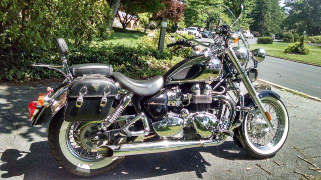 Custom Triumph Bonneville America 06 904 Cc Vintage Chrome And Paint