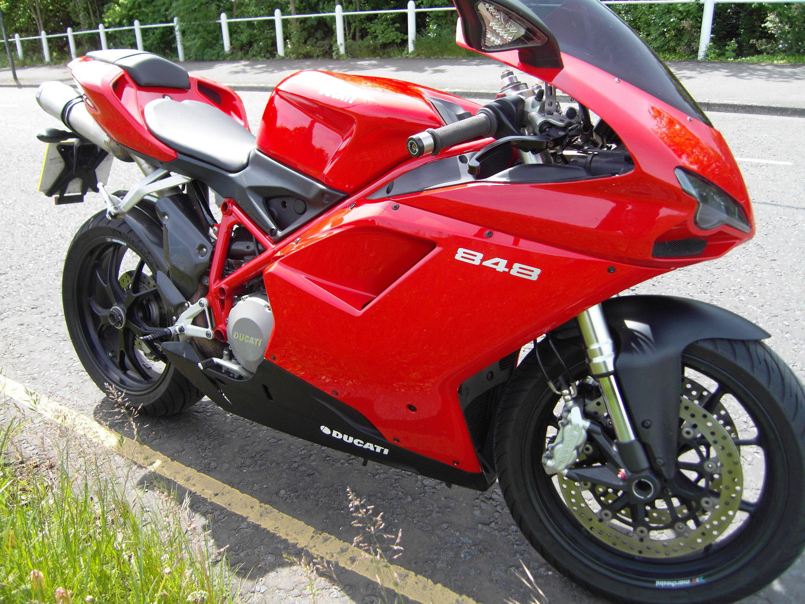 ducati 848 2008 red stunning fully serviced. Black Bedroom Furniture Sets. Home Design Ideas