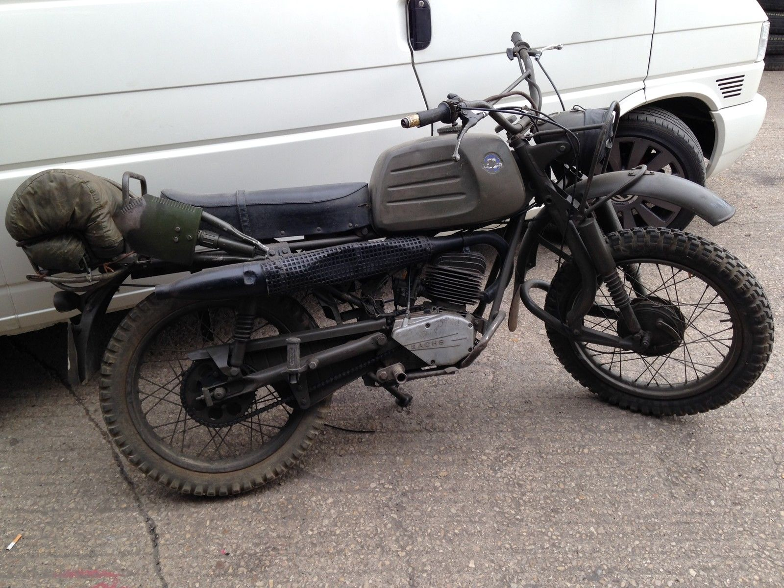 ex military german motorcycle sachs hercules k125 army bike project ...